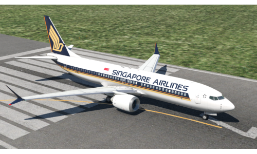 737MAX8 Singapore Airlines 9V-MBA